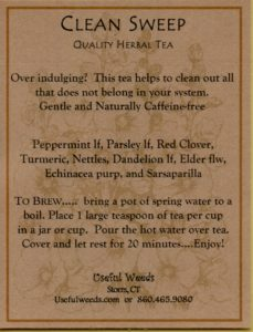 Clean Sweep Herbal Tea Lable