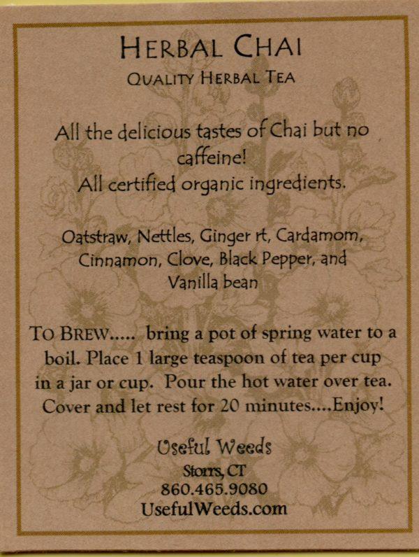 Herbal Chai Herbal Tea Label_IMG_0027