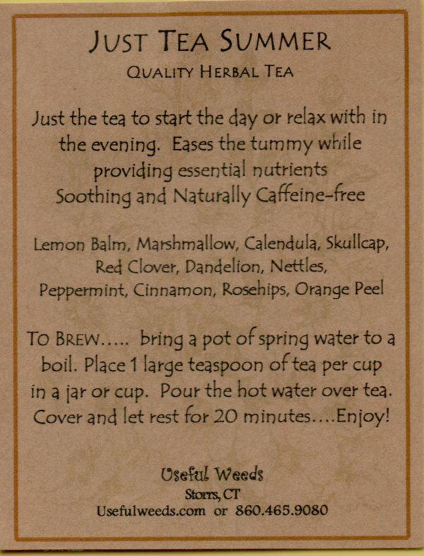 Just Tea - Summer Blend Herbal Tea Label_IMG_0033