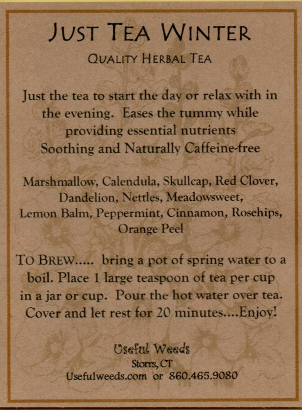 Just Tea - Winter Blend Herbal Tea Label_IMG_0034