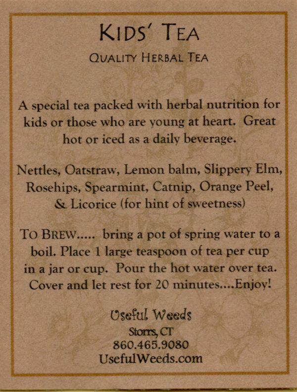 Kids Tea - Herbal Tea Label_IMG_0035