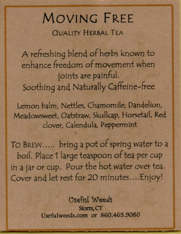 Moving Free Herbal Tea Lable