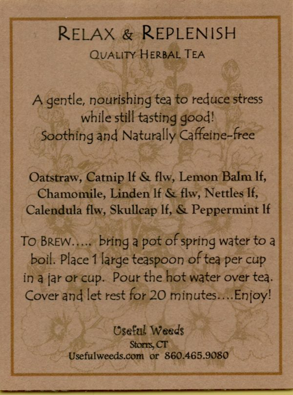 Relax and Replenish Herbal Tea Label_IMG_0055